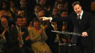 Nick Clegg at Lib Dem party conference