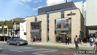 Artists impression of proposed office development on Hungate in York. Picture Steve Dimes