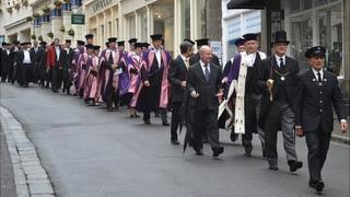 Guernsey Chief Pleas parading down the High Street