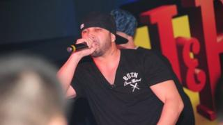 Bulgarian rapper Big Sha performing (Image: Misho Shamara)