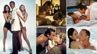 A montage of images from the James Bond films: The Man With The Golden Gun; Die Another Day; Casino Royale and From Russia With Love (All images from Rex Features)