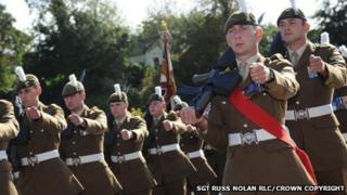 Soldiers from 2nd Battalion The Royal Welsh regiment