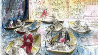 Illustration from The Twelve Dancing Princesses