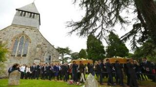 Funeral at All Saints' Church, Whiteparish