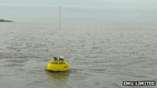 The buoy was stationed off Weston-super-Mare