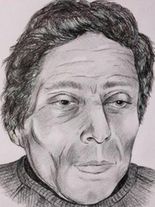 Artist's impression of dead man