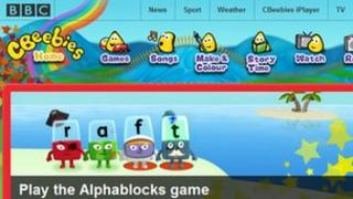 Cbeebies homepage