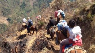 Riding through the mountains of Cauca