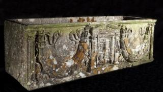 The Roman marble coffin