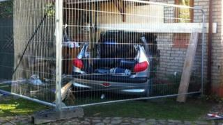 Car hits house in Brantham