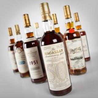 A selection of the bottles which are being put up for auction
