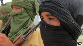 Islamist fighters in northern Mali - September 2012