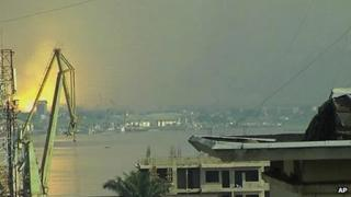 Video from Kinshasa showing blast in Brazzaville. 4 March 2012