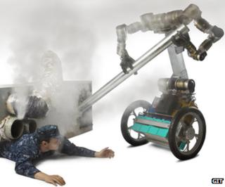Robot rescues trapped Naval officer