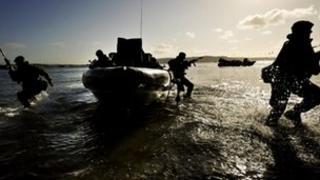 Royal Marine Commandos training