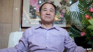 Chinese author Mo Yan, in Shandong province on 12 October 2012