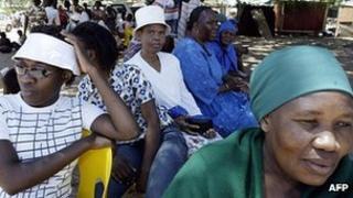 Women pictured in Gaborone, Botswana, in 2004