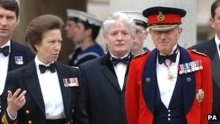 Princess Anne and Sir John Kiszely in 2007