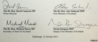 Referendum deal signatures