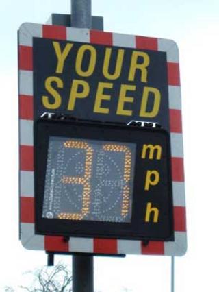 Speed indicator sign