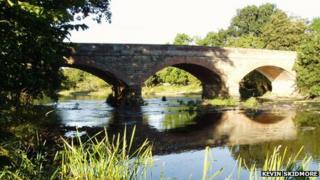 Cilgwrgan Bridge at Aberbechan, near Newtown