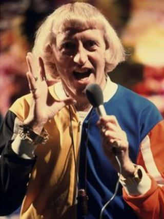 Jimmy Savile on Top of the Pops in 1975