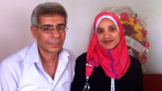 Muhammad Al Far and his wife Wafa