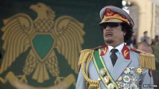 """Libya""""s leader Muammar Gaddafi attends a celebration of the 40th anniversary of his coming to power at the Green Square in Tripoli in this September 1, 2009 file photo"""