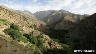 The High Atlas mountains in Morocco