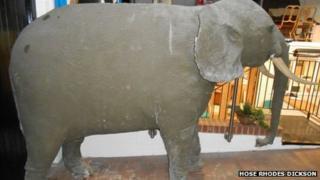Elephant in Brading wax museum