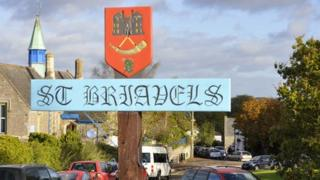 St Briavels sign
