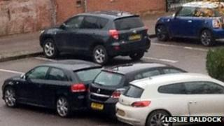 Cars in car park