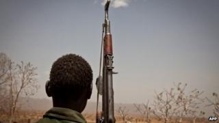 An SPLM-North rebel soldier - April 2012