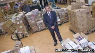 Manager Richard Hodgson in the Birkenhead store