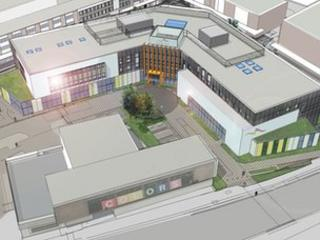 Artist design for new college building in Basildon