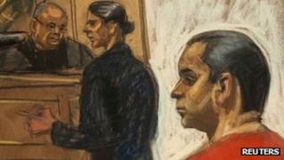 Court sketch of Gilberto Valle, New York, New York 25 October 2012