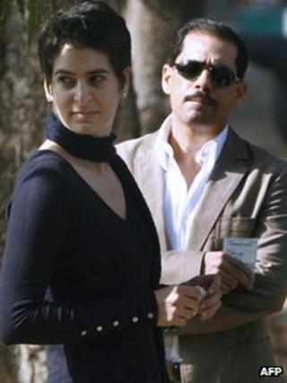 Robert Vadra with wife Priyanka Gandhi