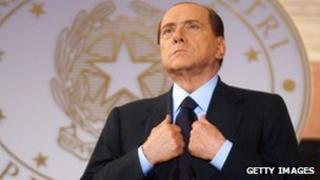 File photo of former Italian Prime Minister Silvio Berlusconi, 26 October 2012