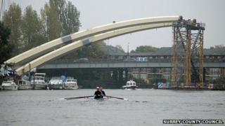 The Walton Bridge taking shape