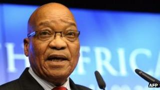 Jacob Zuma at EU-South Africa summit in Brussels - 18 September