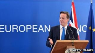David Cameron speaking after EU summit on 19 October 2012