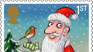 Father Christmas stamp