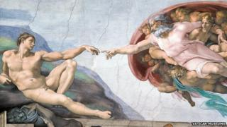 Michelangelo's Creation of David in the Sistine Chapel