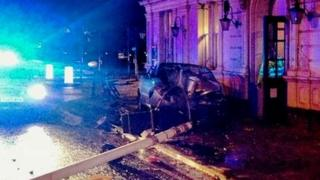 Car crashed into the White Elephant pub in Northampton