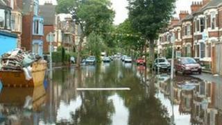 Flooded Hull street