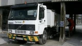 Generic shot of Tarmac lorry