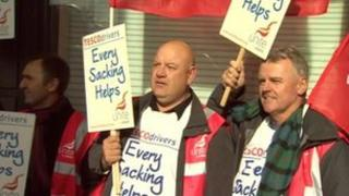 Striking drivers in London