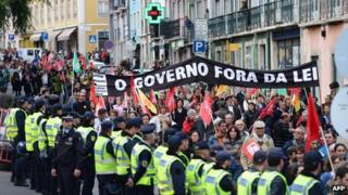 Anti-austerity protest in Lisbon, 31 Oct 12
