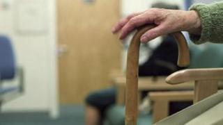 Elderly patient waiting to be seen
