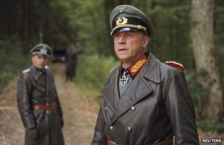 Erwin Rommel (foreground), played by Ulrich Tukur, in a scene from the new German film